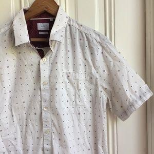 7 Diamonds High Above Print Button Down Shirt